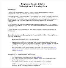 37 Safety Training Schedule Template Health Safety Bizorb