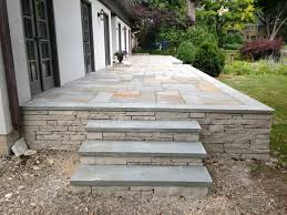 how to build a raised stone patio traditional patio