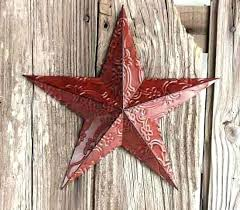 metal star wall decor unique red embossed barn canada