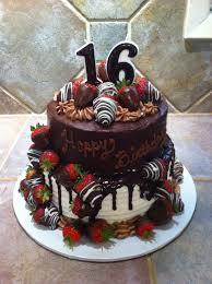 chocolate birthday cake with strawberries. Chocolate Covered Strawberries Birthday Cake In With