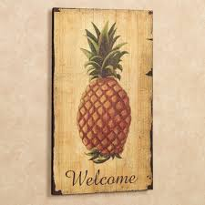 pineapple vintage welcome sign wall art gold touch to zoom