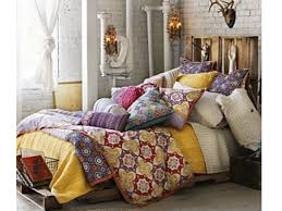 bedroom: Superb Concept For Mesmerizing Bohemian Style Bedroom With Colorful  Pillow Case On Single Bed