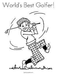 Small Picture Golf Coloring Pages Twisty Noodle