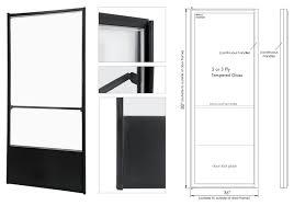 standard entrance glass door features