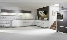 simple modern kitchen. Simple Modern Kitchen Interior Design With White Brown Varnished Pictures Large Wooden L Shaped Cabinet Gray