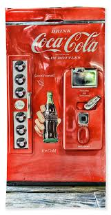 Coca Cola Vending Machine For Sale Cool Cocacola Retro Style Beach Towel For Sale By Paul Ward