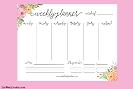 Free Printable 2019 Calendar With Weekly Planner Sparkles Of Sunshine