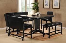 modular dining room furniture. Contemporary Black Dining Room Sets With Square Shaped Coffee Table And Modular Rounded Leather Chairs Furniture
