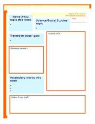 Education Newsletter Templates Speical Education Newsletter Template