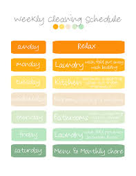 monthly house cleaning schedule template weekly cleaning template oyle kalakaari co