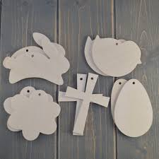 easter mix wooden craft shapes