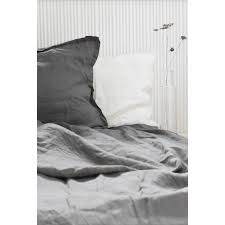 linen duvet cover dark grey