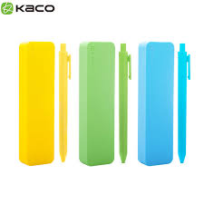 Xiaomi KACO <b>PURE</b> Gel Pen with <b>Soft Silicone</b> Pen Box Set ...
