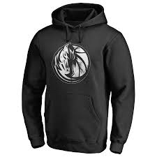 Fanatics Men's Branded Mavericks Hoodie Pullover Logo Dallas Black Marble