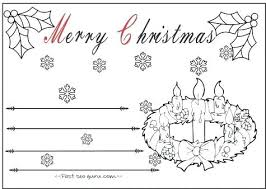 christmas card color pages christmas card coloring pages cards free sheets bageriet info