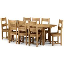 calgary solid oak extending dining table with 10 solid oak solid oak dining chairs