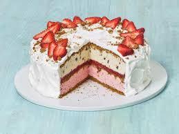 Strawberries And Cream Ice Cream Cake Recipe Food Network Kitchen