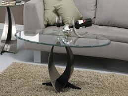 Small Oval Glass Coffee Table