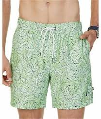 Nautica Swim Trunks Size Chart Details About Nautica Mens Watercolor Leafy Swim Bottom Trunks