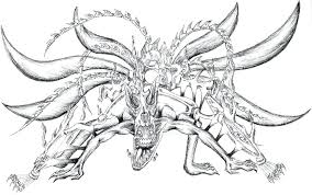 Naruto Coloring Pages Also Nine Tailed Fox Coloring Pages Coloring