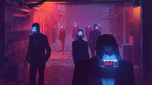Animated Neon City Wallpaper 4K / Anime ...