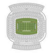 Auburn Seating Chart With Rows Auburn Tigers Football Seating Chart Map Seatgeek