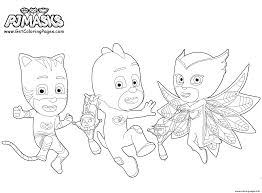 Pj Masks Coloring Pages For Kids With Printable Pj Masks Party