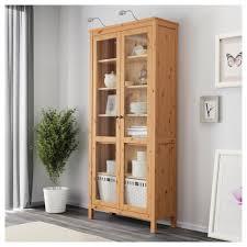 Glass Door Cabinet Hemnes Glass Door Cabinet Black Brown Ikea