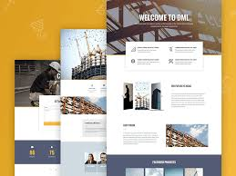 Construction Website Templates Cool New Templates Premium Construction Company Template Set