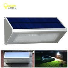 outdoor solar powered lamp security light with motion sensor aluminum alloy street porch lights