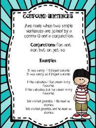Complex Sentence Anchor Chart Compound Sentences Anchor Chart Worksheets Teaching