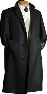 hk6281 jet black wool fabric overcoats outerwear