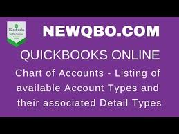 Chart Of Accounts Listing Of Available Account Types And