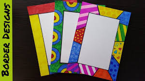 Easy To Make Border Designs How To Make Easy Page Border Designs For Assignment