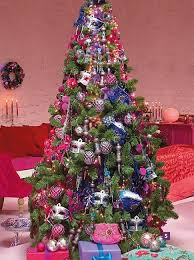 Appealing Colorful Christmas Tree Decorating Ideas 12 About Remodel Elegant  Design with Colorful Christmas Tree Decorating Ideas