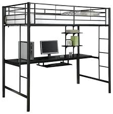 metal loft bed with desk walker sunset metal twin workstation bunk bed black x contemporary twin metal loft bed with desk