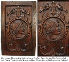 Antique Victorian Carved Cabinet Door, Panel, Wall Plaque with ...