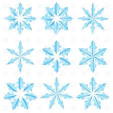 Icy Snowflake Designs Vector Illustration Of Design Elements Dvarg