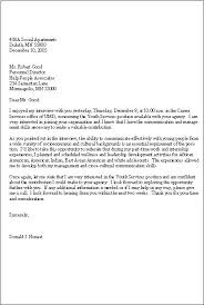 Thank You Letter After Interview Template Follow Up Letter Sample