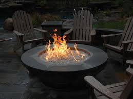 outdoor gas fireplace round