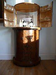 corner curved mini bar. Art Deco Curved Cocktail Cabinet Circa 1930s Made Out Of Walnut. Corner Mini Bar K