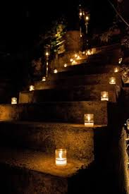 candles lighting a stairway to my proposal d candle lighting ideas