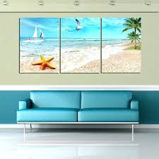 beach canvas wall art 3 panel beach canvas seascapes palm tree paintings wall art coconut canvas on 3 panel wall art beach with beach canvas wall art homesquare fo