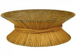 top 43 cool baker faux bamboo coffee table interesting gold tables size narrow round ottoman adjule