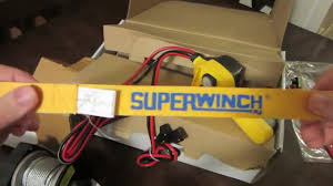 unboxing superwinch lt utility unboxing superwinch lt2000 utility