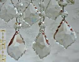 chandelier prisms clear cut glass leaf mm 2 inch chandelier crystals drops beads transpa droplets