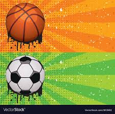 Backgrounds Basketball Basketball And Soccer Backgrounds Royalty Free Vector Image