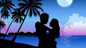 Love Romantic Shadow Wallpaper
