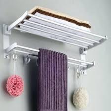 bath towel holder. Towel Shelves Aluminum Hanging Racks Folding Bath Holder Home Bathroom Accessories Storage I