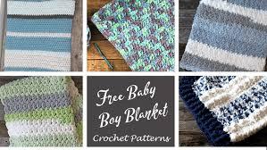 crochet baby boy blanket patterns